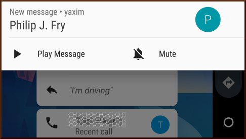 yaxim in Android Auto