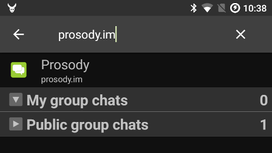 prosody.im search screenshot